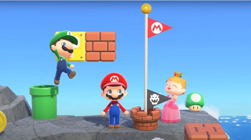 Colección Súper Mario en Animal Crossing: New Horizons