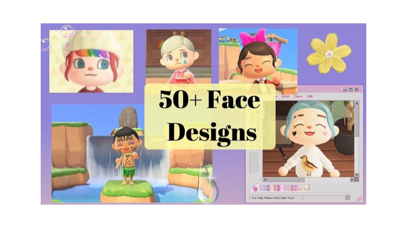 50+ FACE PAINT Design Codes for Animal Crossing: New Horizons